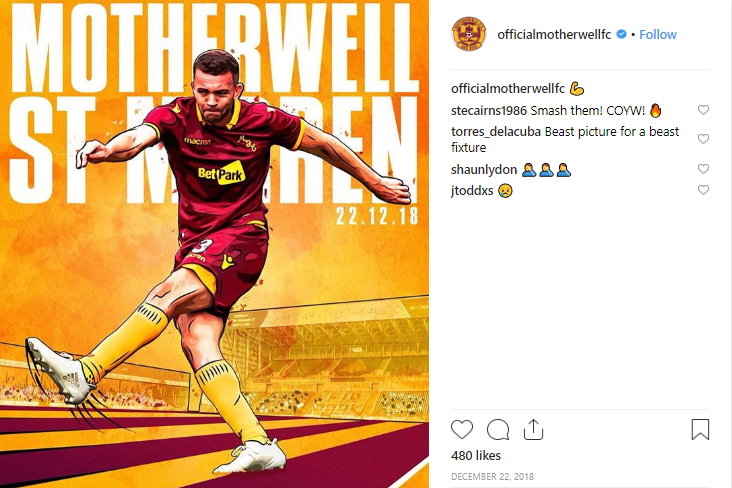Motherwell FC Instagram