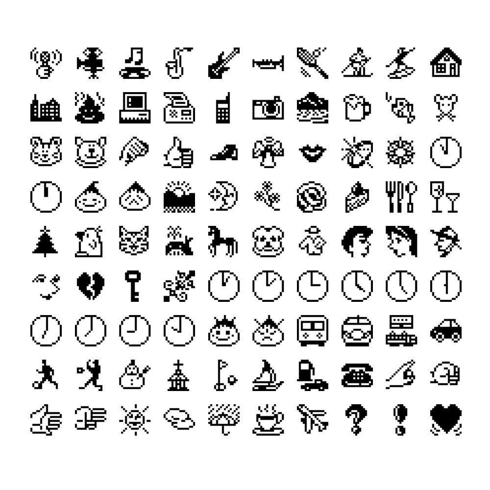 Emojis on Japanese mobile phone, 1997