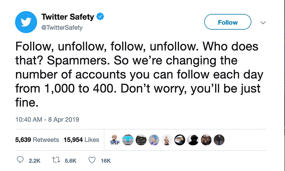Twitter implements follower limits