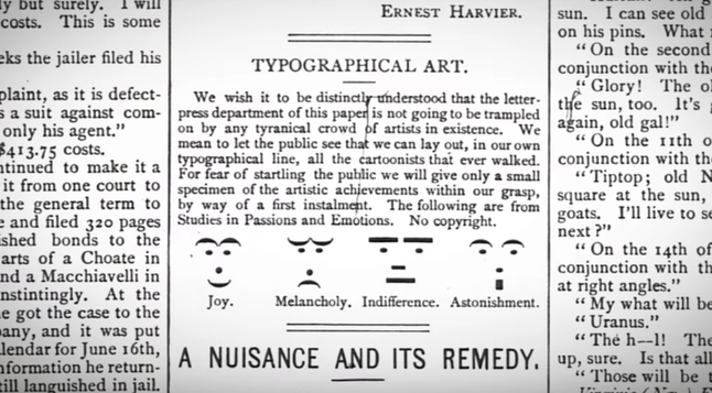 Emojis in print 1881