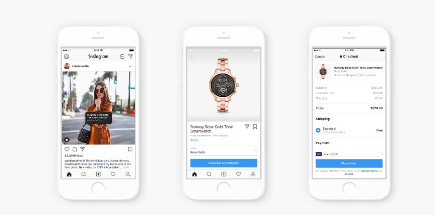 F8: Instagram shopping through influencers