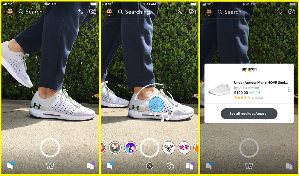 Snapchat launched a visual search tool
