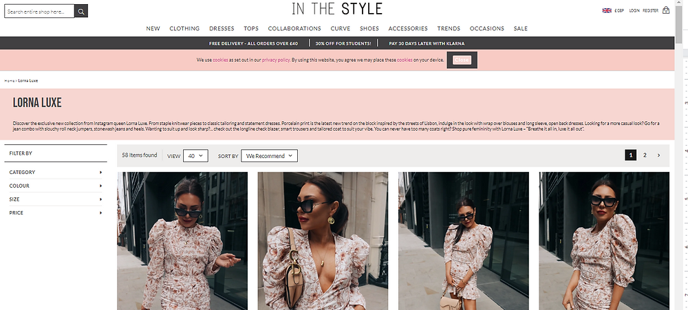 Lorna Luxe - In The Style