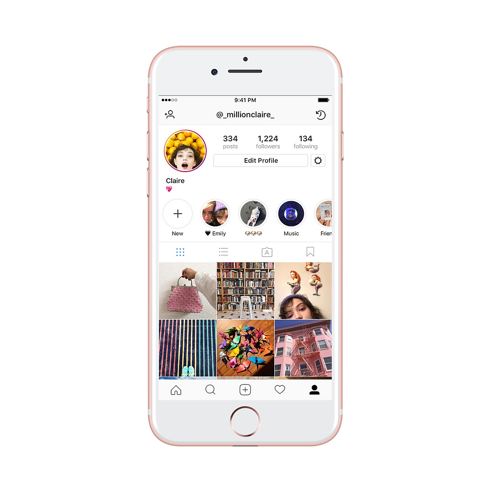 You will find Highlights directly underneath your bio on Instagram