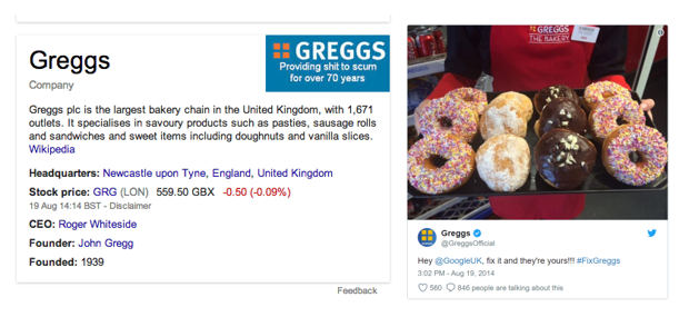 Greggs' reaction when someone changed the logo