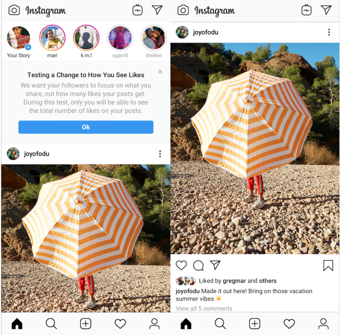F8: Hiding Instagram Likes