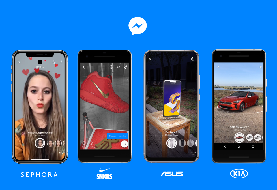 AR Shopping on Facebook Messenger