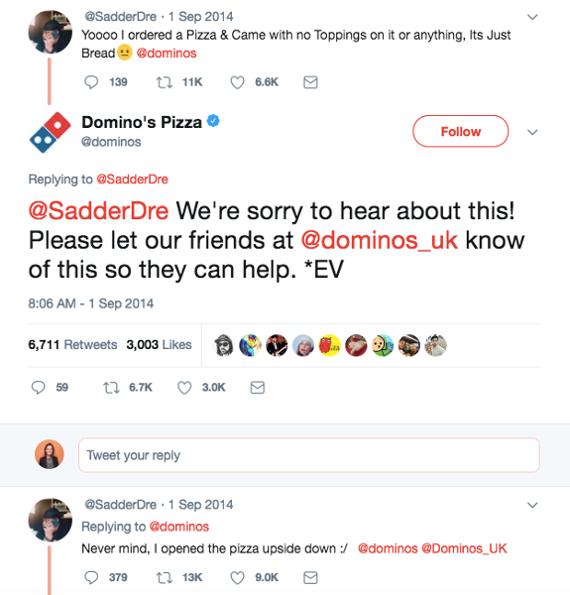 Domino's Pizza customer service