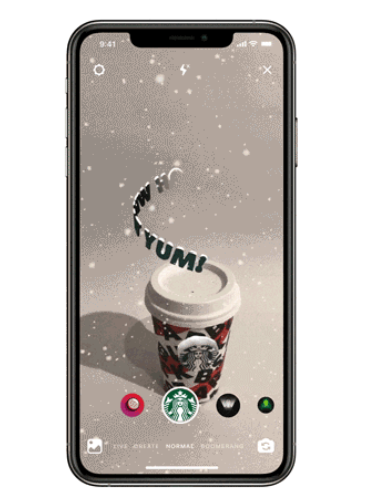 Starbucks Christmas AR filter