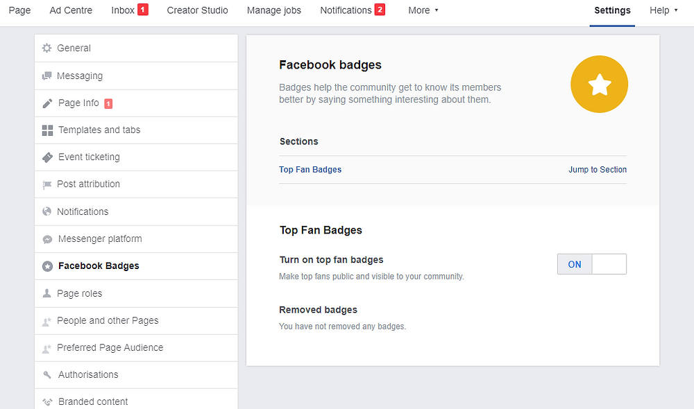 How to add Facebook Top Fan badges
