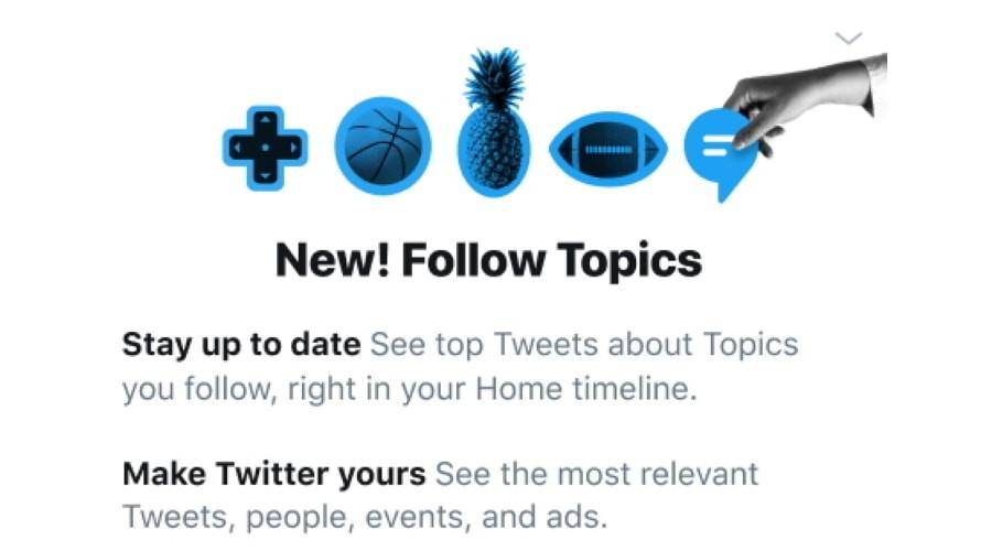 Twitter Follow Topics