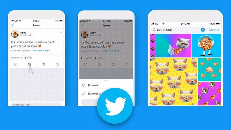 You can now add a GIF to retweets
