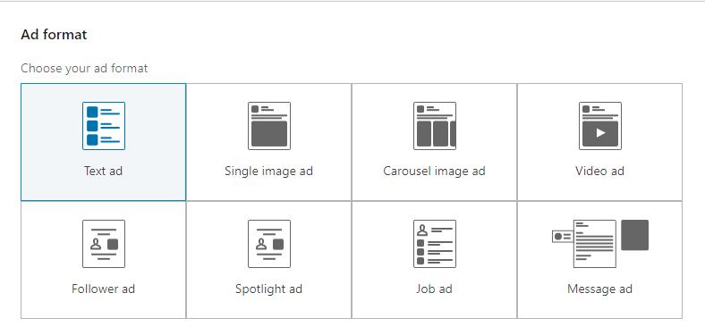 LinkedIn ad formats