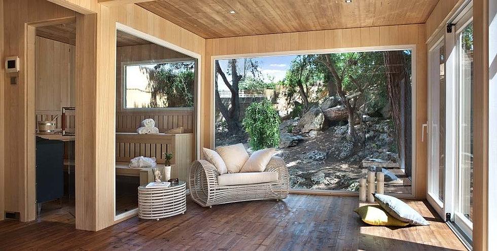 saunahaus mit vorraum karibu gartensauna saunahaus 3 mit. Black Bedroom Furniture Sets. Home Design Ideas