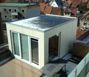 Saunahaus auf der Dachterrasse