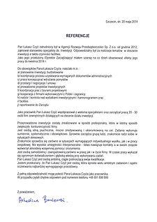 Referencje wystawione przez firmę ARP Sp. z o.o. w Zorach