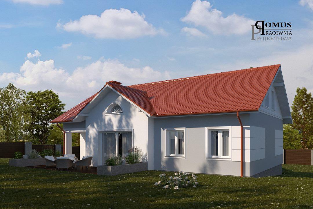01. Projekt kolorystyki elewacji domu je