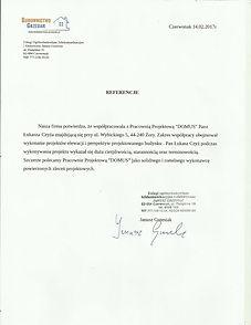 Referencje wystawione przez firmę Budownictwo - Grzesiak