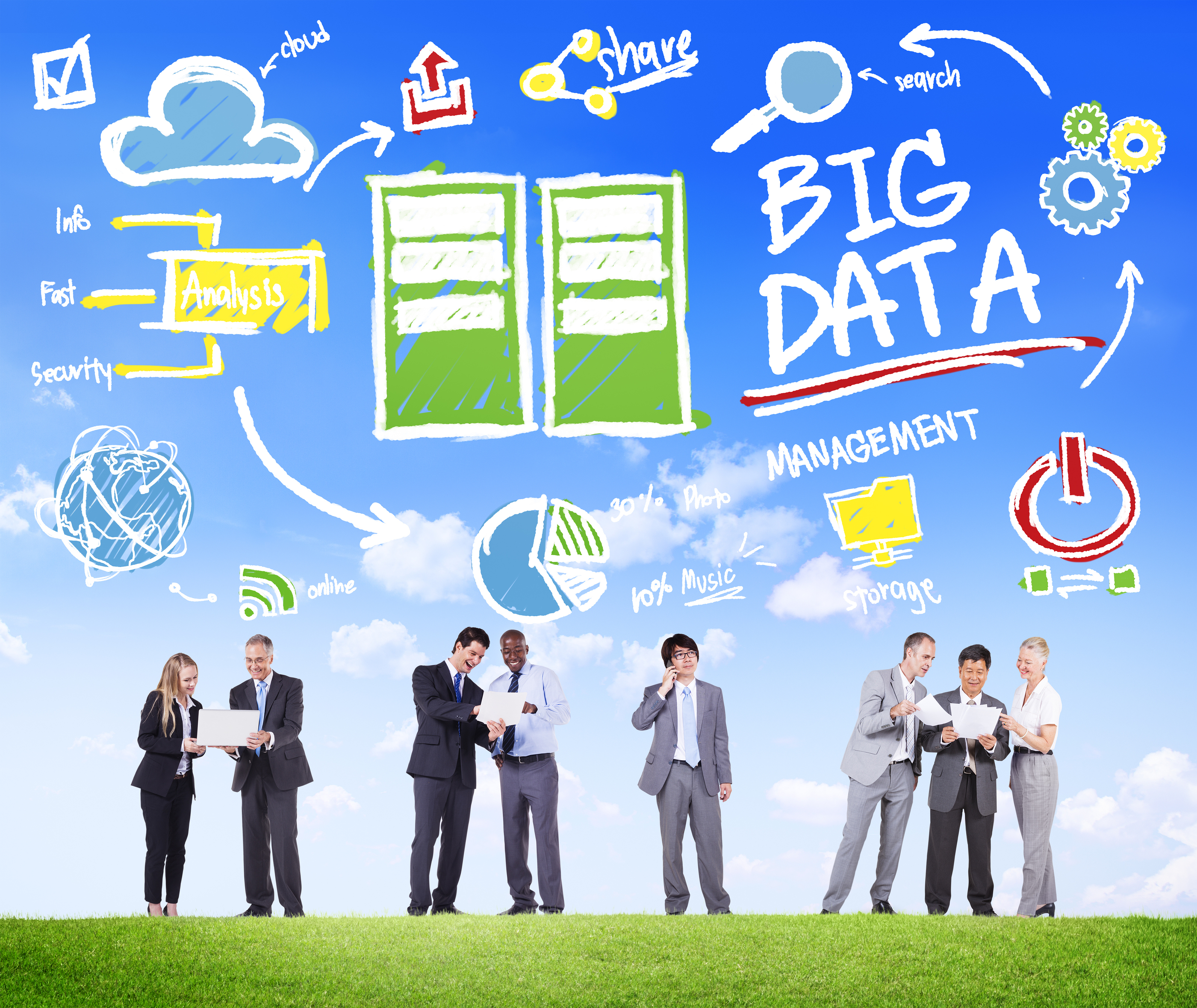 Diversity Business People Big Data Share Discussion Concept