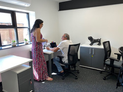 Havelock Hub Office Woman and Man talking