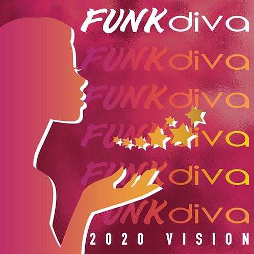 Funk Diva 2020 Vision 11x 8.5  Collection Wall Calendar