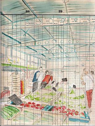 Un jour, un dessin Première étape demain la suite Étude du marché d'Aussillon