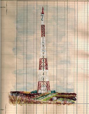Un jour, un dessin  Au détour, de balade.. Une tour Eiffel !  Photo trouvé sur le site Passion Monta