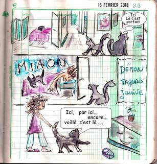 Un jour, un dessin Mon chat Démon ou Monde 19 ans .... Elevé comme un roi ...
