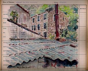 Un jour, un dessin Route des Usines Mazamet  Passé industriel