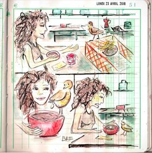 Un jour, un dessin  Cadeau de pioupiou  Un nuage de lait !!