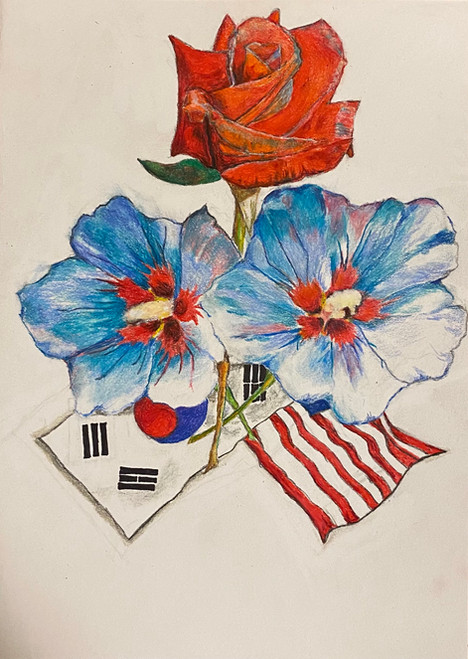 National Flowers, Bryan Chu, colored pencils, 30cm x 21cm