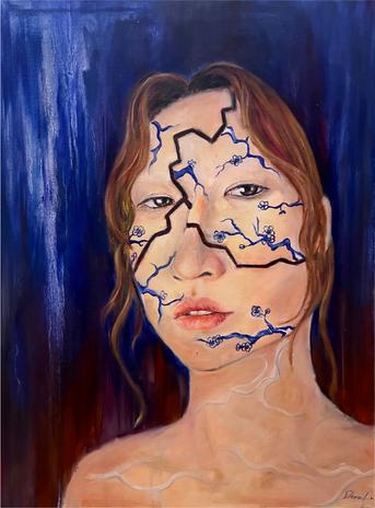 """Porcelain Culture, Dora Yanchen Lu, oil on canvas, 18"""" x 24"""""""