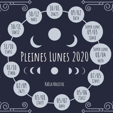 Les pleines lunes 2020