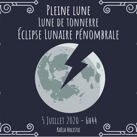 Pleine Lune de tonnerre du 5 juillet 2020 avec éclipse pénombrale