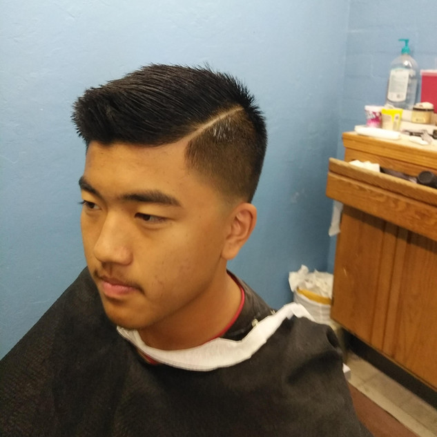 side part with taper