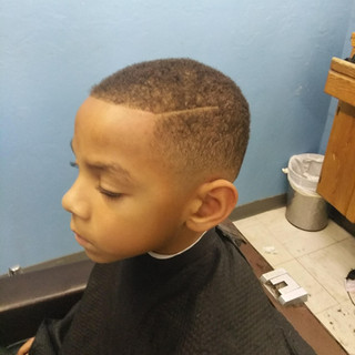 Low fade side part