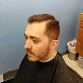 mid fade side part adult