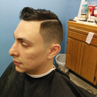 low fade side part adult