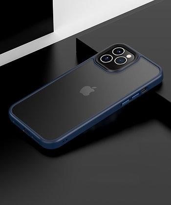 """Comma iPhone 12 / iPhone 12 Pro 6.1"""" Joy Elegant Anti-Shock Case, Blue"""