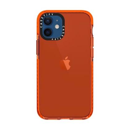 "Casetify iPhone 12 mini 5.4"" Impact Case, Electric Orange"