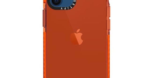 Casetify iPhone 12 mini Impact Case, Electric Orange