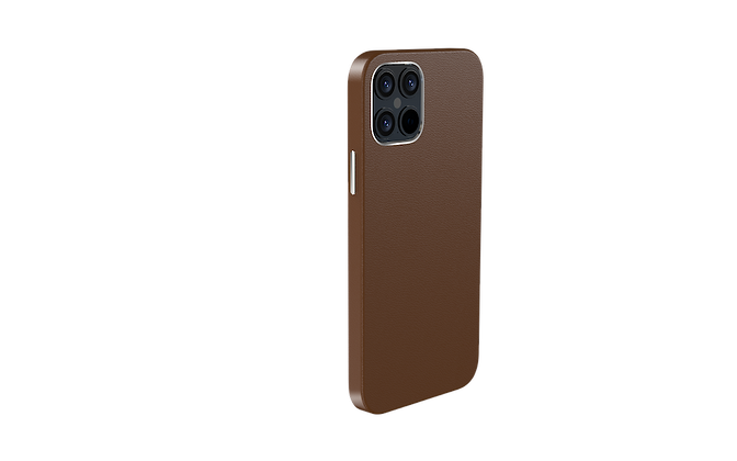 "Comma iPhone 12 / iPhone 12 Pro 6.1"" Royal Leather Case, Brown"