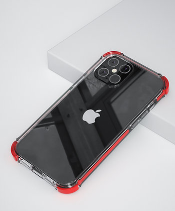 "Comma iPhone 12 mini 5.4"" Toread Shockproof Case, Red"
