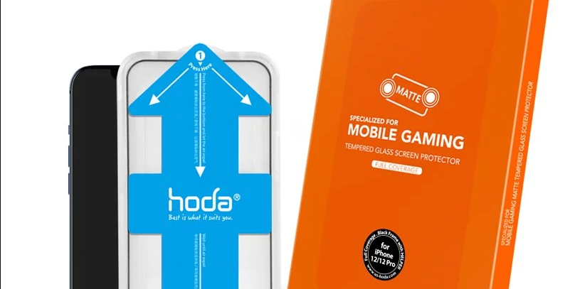 Hoda iPhone 12 | Pro Tempered Glass, Full Coverage Anti-Glare