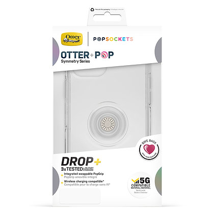 """OtterBox Otter + Pop iPhone 12 mini 5.4"""" Symmetry Clear Series, Clear"""