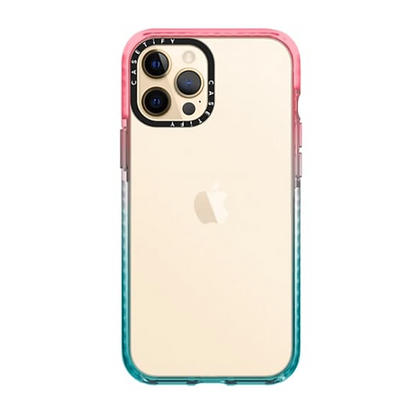 """Casetify iPhone 12 / iPhone 12 Pro 6.1"""" Impact Case, Pink/Blue"""