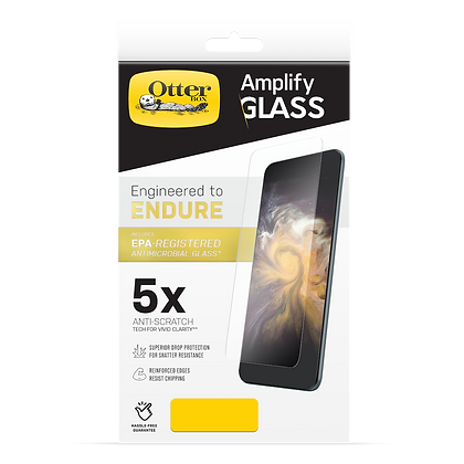 """OtterBox iPhone 12 mini 5.4"""" Amplify Glass AntiMircobial, Clear"""