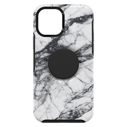 """OtterBox Otter + Pop iPhone 12 Pro Max 6.7"""" Symmetry Series, White Marble"""