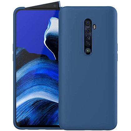 Komass Oppo Reno2 Liquid Silicone Back Cover Blue