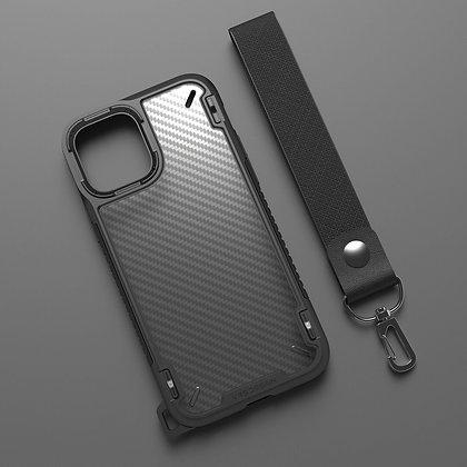 "VRS Design iPhone 12 Pro Max 6.7"" Crystal Mixx Pro Black Carbon Illustration"